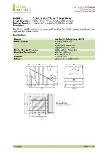 CM40 Specifications
