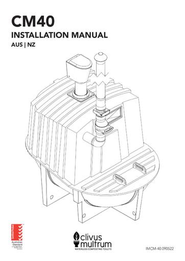 Clivus Multrum CM Tanks Installation Manual