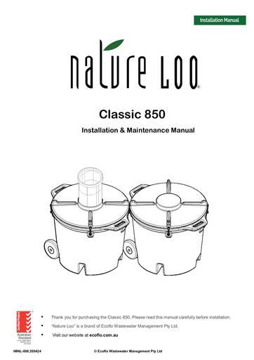 IMNL-008-24.04.2020 Nature Loo Classic 850 Instruction Manual